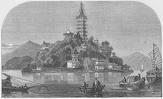 Yangtze - Golden Island, on The Yang-Tse River, China (LMS, 1869, p.64)