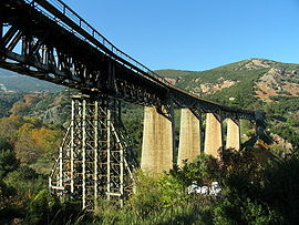 The rail bridge of Gorgopotamos that was blown up by the Greek Resistance during WWII.