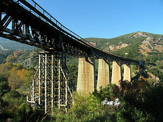 Greek Resistance - The rail bridge of Gorgopotamos that was blown up (Operation Harling).