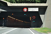 Gotthard Road Tunnel Switzerland (from south)