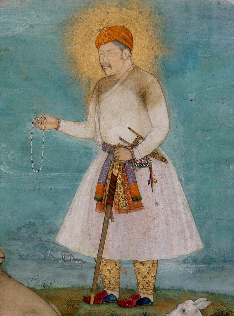 Govardhan. Akbar With Lion and Calf ca. 1630, Metmuseum (cropped).jpg