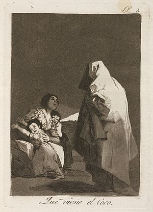 "Bogeyman - Goya's Que viene el Coco (""Here Comes the Bogeyman / The Boogeyman is Coming"") c. 1797"