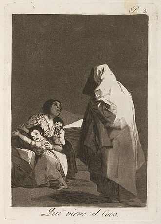 "Bogeyman - Goya's Que viene el Coco (""Here Comes the Bogeyman / The Boogeyman is Coming""), c. 1797"