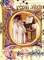 Graduale, Monks choir, Capolettera O, c. 1410 Biblioteca Medicea Laurenziana, Firenze.jpg