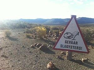 Afrikaans - Image: Graham Maclachlan Gevaar Slagysters