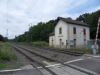 Forest of Chaux - The defunct railroad station of Grand-Contour, situated within the forest