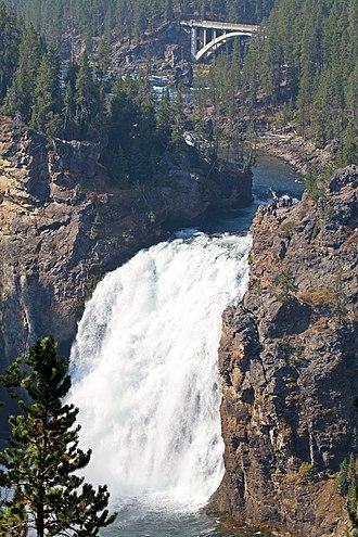 Yellowstone Falls - Image: Grand Canyon of the Yellowstone 1 (8044058776)