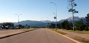 Grande Cache - Highway 40 through Grande Cache