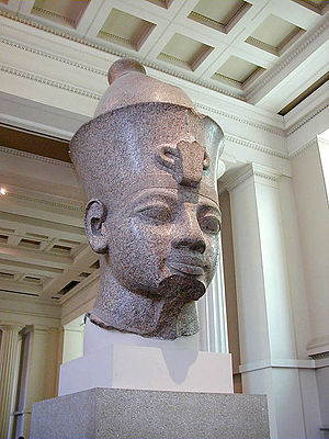 Pschent - Image: Granite head of Amenhotep III