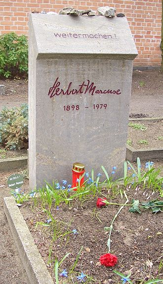 Herbert Marcuse - Grave in the Dorotheenstädtischer cemetery, Berlin, where Marcuse's ashes were buried in 2003.
