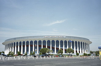 Venues of the 1984 Summer Olympics - The Forum in 1997 (Shown as the Great Western Forum and uploaded in 2007.). It hosted the basketball events for the 1984 Summer Olympics.