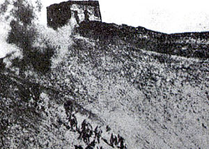 Defense of the Great Wall - Japanese forces charging toward the wall defense