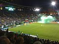 Green smoke bomb celebration after Portland Timber goal.jpg