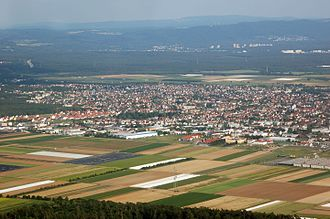 Griesheim, Hesse - Aerial view