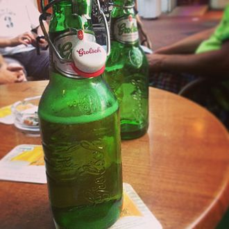 Grolsch Brewery - An opened bottle of Grolsch premium lager
