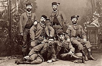 Sokol - Members of the Sokol club in costume, 1880s  photographed by Šechtl and Voseček