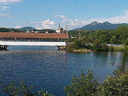 Covered bridge over the Upper Ammonoosuc River