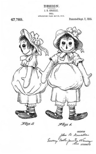 Raggedy Ann - Gruelle's U.S. Patent design for what became known as the Raggedy Ann doll