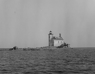 Gull Rock Light Station lighthouse in Michigan, United States