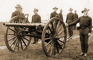 3.2-inch gun M1897 - 3.2-inch gun M1897 with crew, Spanish-American War era.