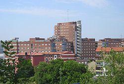 El Hospital de Cruces (Barakaldo) es el más grande del País Vasco.