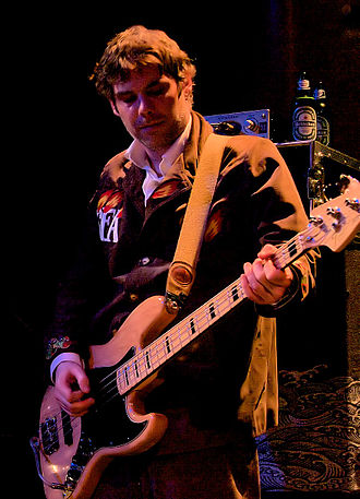 Guto Pryce - Guto Pryce performing with the Super Furry Animals at the Great American Music Hall, San Francisco on 9 February 2008.