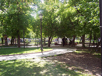 Güvenpark - A view from the park's inside.