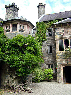 Gwydir Castle - The entrance