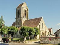 Hérouville (95), église Saint-Clair, vue depuis le nord-ouest.JPG