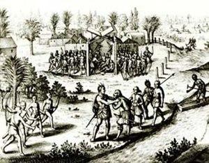 Ralph Hamor - Captain Ralph Hamor visiting Powhatan, 1619