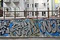 HK 上環 Sheung Wan 水坑口街 Possession Street footbridge 華里 Wa Lane wall picture 塗鴉 Graffiti June 2018 IX2 03.jpg