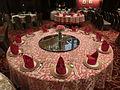 HK Jordan Nathan Road 香港逸東酒店 Eaton Hotel Hong Kong Banquet ballroom table setting Jan-2014.JPG