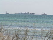 HMAS Canberra Tow