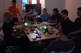 Mitch Altman - Altman at a workshop at HackerspaceSG in Singapore