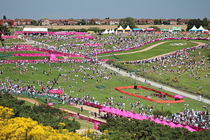 Cycling at the 2012 Summer Olympics – Women's cross-country - Image: Hadleigh Farm venue MTB cycling 2012 Olympics W cross country