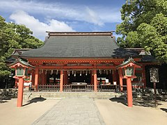 Haiden of Sumiyoshi Shrine 4.jpg