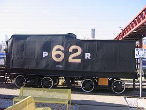Israel Railway Museum - Tender of Palestine Railways P class 4-6-0 steam locomotive No. 62