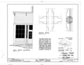Half South Elevation, Muntin Detail - Carissa Saloon, South Pass Avenue, South Pass City, Fremont County, WY HABS WYO,7-SOPAC,4- (sheet 1 of 2).png
