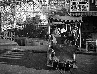 Venice Miniature Railway - Image: Harold Lloyd 'Number please?' on the Venice Miniature Railway