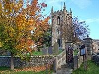 Hartington Church, graveyard and gateway - geograph.org.uk - 1069318.jpg