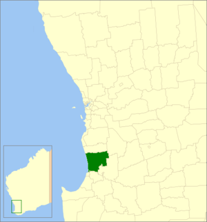 Shire of Harvey - Location in Western Australia
