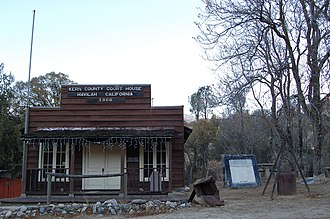 Kern County, California - The Havilah Court building was restored in the 1970s and now serves as a museum. Photo circa 2007.