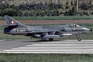 Fliegerstaffel 3 - Image: Hawker Hunter F.58, Switzerland Air Force JP6716576