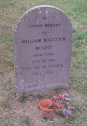 Sir William Mount, 2nd Baronet - Headstone of William Malcolm Mount at Wasing church.