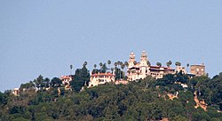 View of Hearst Castle, a prominent landmark in San Simeon
