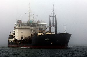 "Heavy Commercial Dredge Ship the ""Yakquina"".jpg"