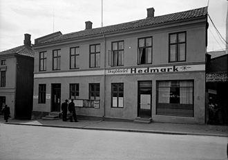 Hamar Arbeiderblad - Hamar Arbeiderblad had offices in Grønnegata 32 during world war two and was known as Hedmark.
