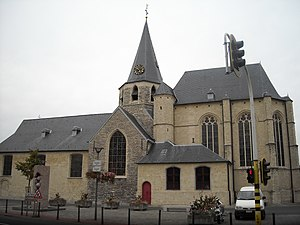 Zwijndrecht, Belgium - Heilig Kruiskerk, Zwijndrecht, Belgium. The earliest part of the church dates from the 12th Century.