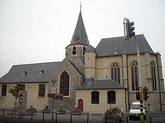 Zwijndrecht, Belgium - Heilig Kruiskerk, Zwijndrecht, Belgium. The earliest part of the church dates from the 12th Century.
