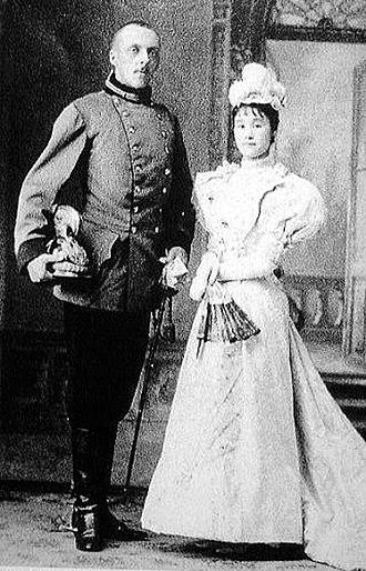 Heinrich von Coudenhove-Kalergi - Wedding photograph with his wife in 1892